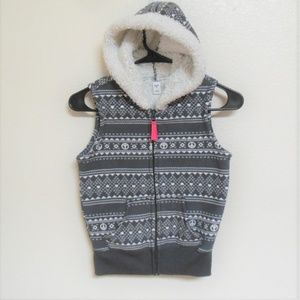 Old Navy Sherpa lined Hooded vest